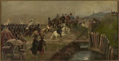 Defilada wojsk austriackich przed Janem Sobieskim