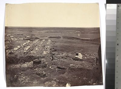 """Panorama of Sevastopol No 3"". [Wojna krymska. Fragment trzyczęściowej panoramy Sewastopola po kapitulacji.]"