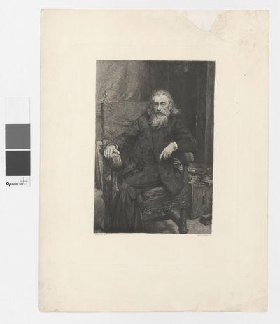 Portret Jana Matejki według autoportretu z 1892 r.
