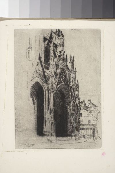 Portal kościoła Saint Maclou w Rouen