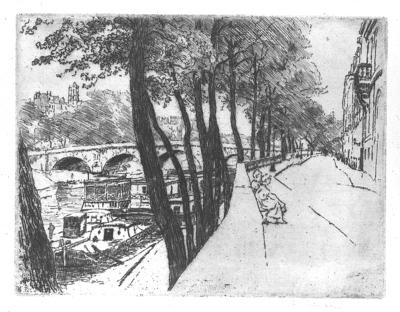 Quai d Anjou w Paryżu. stan I