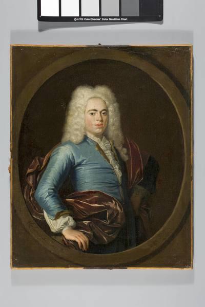 Portret młodego mężczyzny w peruce