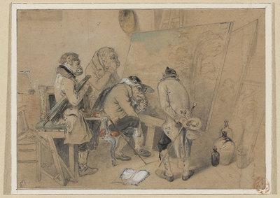 Rzeczoznawcy w pracowni malarza