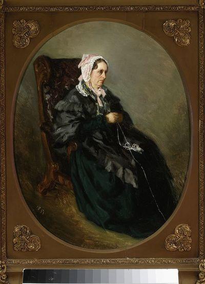 Portret ciotki artysty, szkic