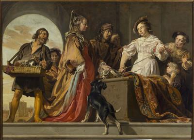 Image from object titled Achilles wśród córek Likomedesa (Owidiusz, Metamorfozy, XII, 162 ff)