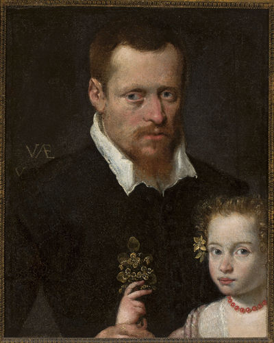 Portret mężczyzny z córką