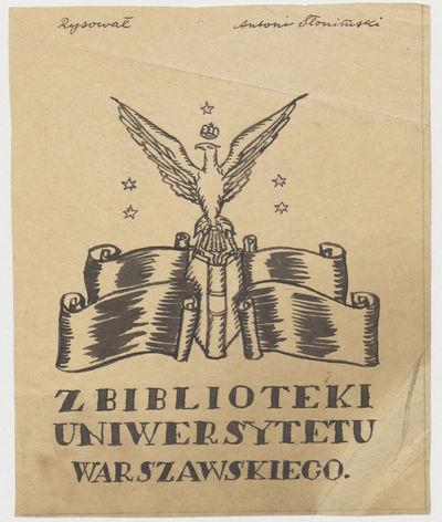 Projekt ekslibrisu dla Biblioteki Uniwersytetu Warszawskiego