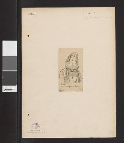 Esterka w stroju z XIV wieku, według ryciny