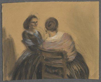 Dwie siedzące kobiety