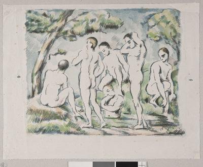 Kąpiący się (mała kompozycja) ; Les six baigneurs ; Les petits baigneurs