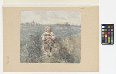 Dziewczynka w polu