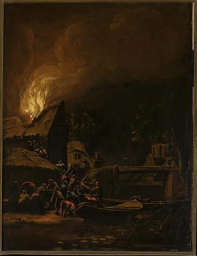 Pożar miasteczka