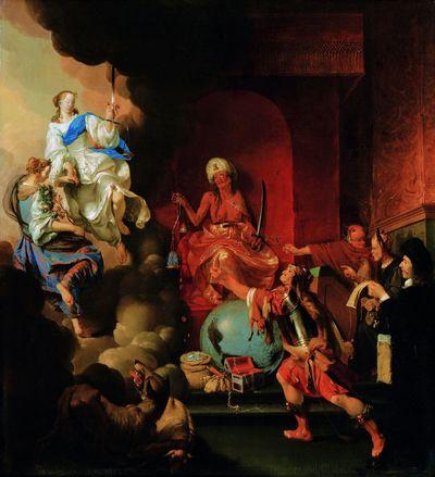 Alegoria tronującej niesprawiedliwości