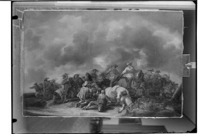 Potyczka kawalerii z piechotą