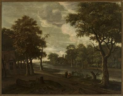 Krajobraz nad rzeką