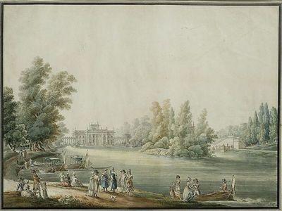 Widok Pałacu w Łazienkach od strony południowej