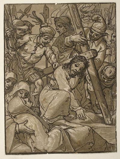 Upadek Chrystusa pod krzyżem