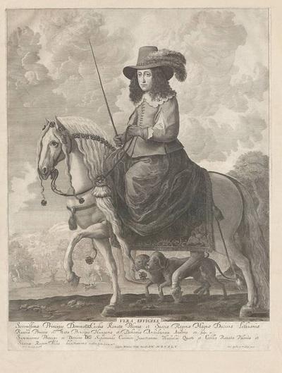 Portret konny królowej Cecylii Renaty