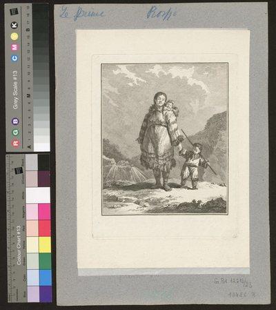 Femme Kamtchadale en habit ordinaire, avec ses enfants