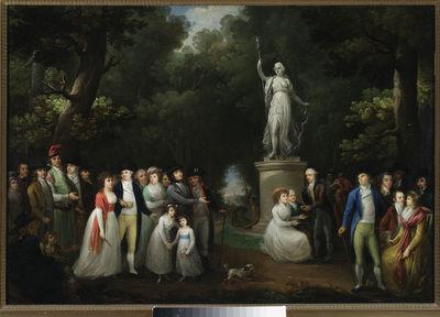 Zebranie towarzyskie w parku