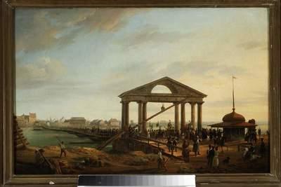 Most pontonowy na WiślePowrót z GrochowaWprowadzenie zdobytych sztandarów do WarszawyMost Warszawski z roku 1814