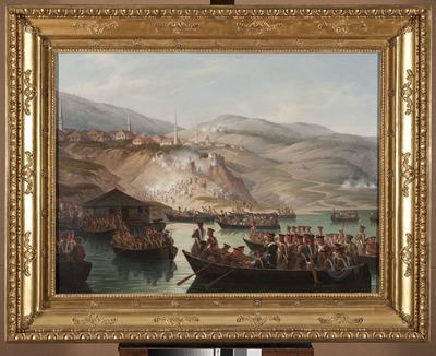 Epizod z wojen kaukaskich - Przejście rzeki w Arcx