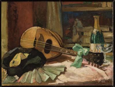 Martwa natura z mandoliną