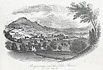 Image from object titled Abergavenny and the Little Skirrid, from Llwynddu