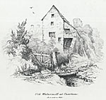 Image from object titled Old Watermill at Caerleon. As it stood in 1842