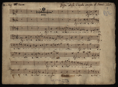 Image from object titled Missa stylo a capella; in C für Chor