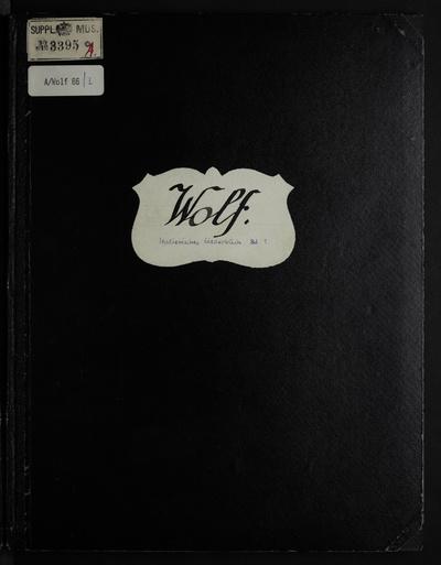 Image from object titled Italienisches Liederbuch (P. Heyse); [Für Gesang und Klavier]