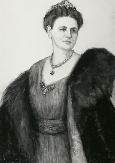 Schilderij van Wilhelmina, Koningin der Nederlanden.