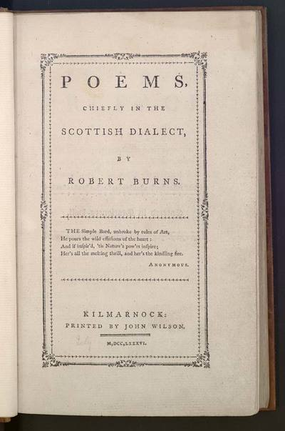 Image from object titled Poems, chiefly in the Scottish dialect.
