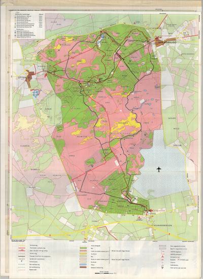 kaart hoge veluwe Kaart van De Hoge Veluwe, van Hoenderloo tot Schaarsbergen en van