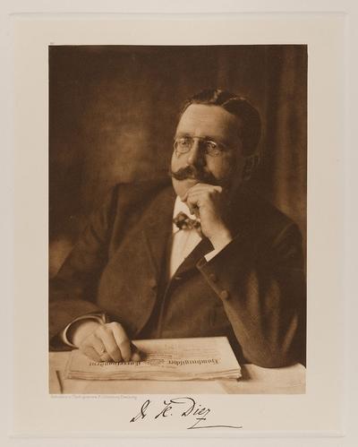 """Image from object titled """"Dr. H. Diez, Chefredakteur des Hamburgischen Correspondenten"""" aus der Mappe """"Hamburgische Männer und Frauen am Anfang des XX. Jahrhunderts"""""""