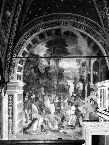 Katharinenzyklus — Das Gebet der Heiligen Katharina befreit zwei Dominikaner