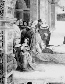 Katharinenzyklus — Das Fußwunder der heiligen Agnes von Montepulciano