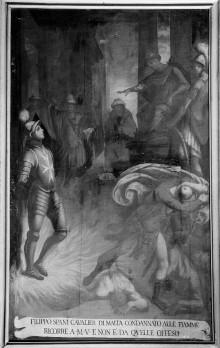 Bilder zum Gedächtnis an Wunder des Gnadenbildes — Die Annunziata rettet Filippo Spani vor dem Flammentod