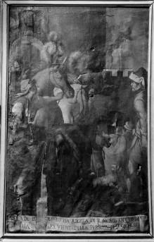 Bilder zum Gedächtnis an Wunder des Gnadenbildes — Maria Annunziata schützt den stürzenden Bartolomeo