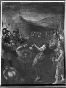 Bilder zum Gedächtnis an Wunder des Gnadenbildes — Die Annunziata rettet den bereits enthaupteten Antonio
