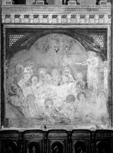 Marienszenen — Die Apostel (als 13. Paulus) am Sterbelager Mariens