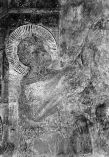Untere Zone mit Apostelszenen — Flug des Simon Magus und Gebet des Petrus