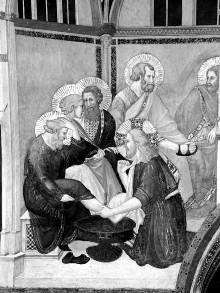 Szenen der Passion Christi — Fußwaschung