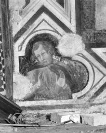 Szenen der Passion Christi — Rahmungen der Passionsszenen: Pelikan, Propheten, Heilige, Engel
