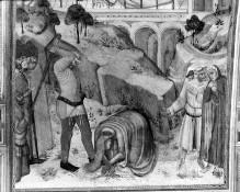 Kapellenausmalung — Katharinenszenen — Die Heilige wird vor dem Götzenbild gemartert; ihre Enthauptung