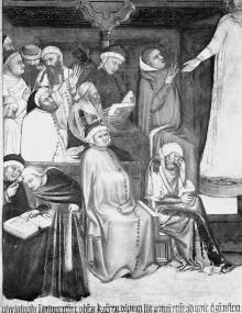 Kapellenausmalung — Katharinenszenen — Disput der Heiligen mit den Philosophen