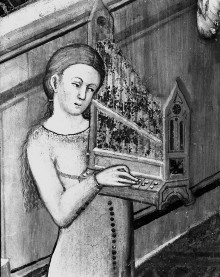 Kapellenausmalung — Katharinenszenen — Die Heilige verweigert den Götzendienst