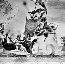 Decken- und Wanddekoration — Allegorische Darstellung der Türkenschlacht vor Wien