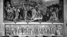 Decken- und Wanddekoration — Der triumphierende David, von den Frauen Israels begrüßt