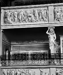 Decken- und Wanddekoration — Fresken der Sängerempore — Christus und die Ehebrecherin
